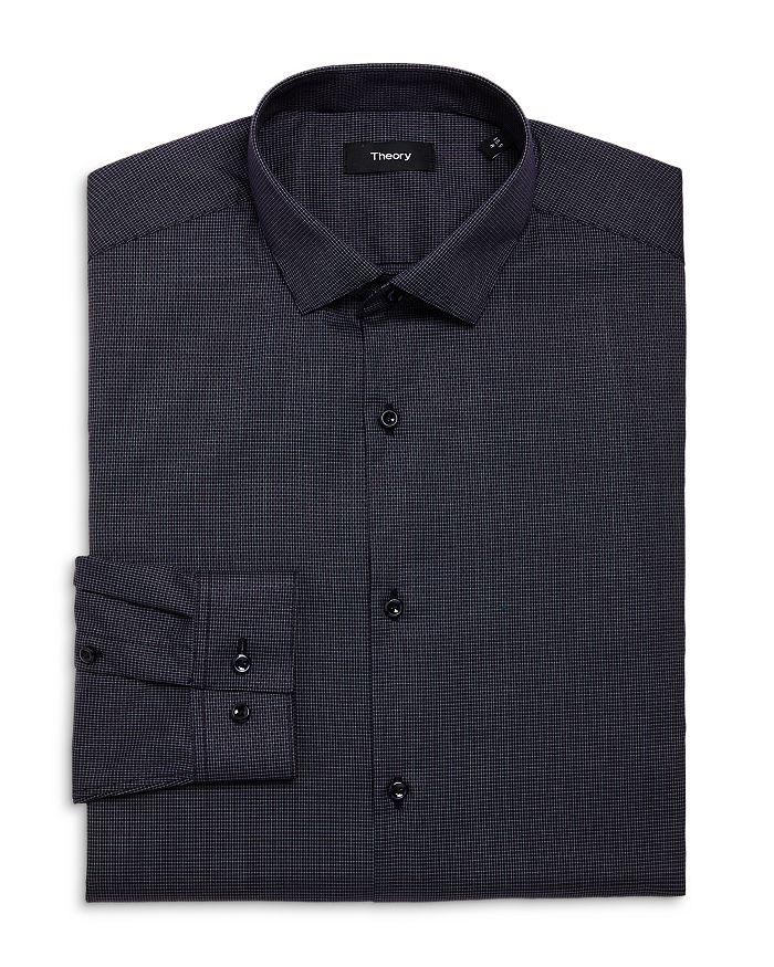 Theory - Cedrick Zino Grid Print Dress Shirt