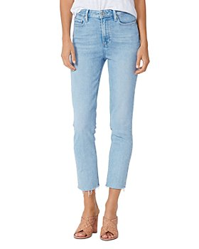 PAIGE - Cindy Raw Hem Straight Jeans in Park Ave