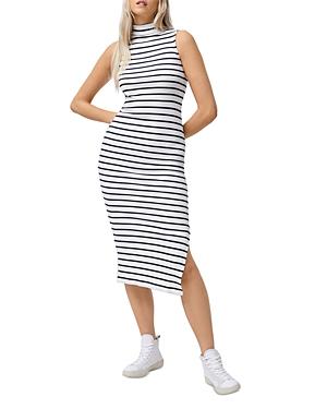 Tommy Ribbed Striped Midi Dress