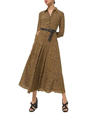 Michael Michael Kors Leopard Print Silk Shirt Dress