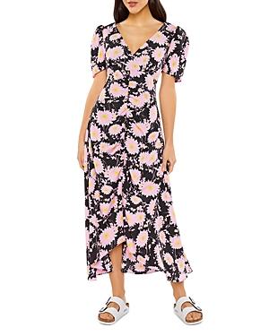Mylene Ruched Front Midi Dress