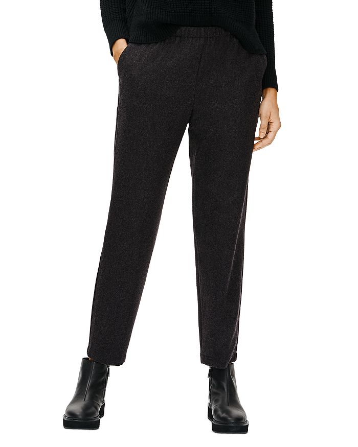 Eileen Fisher - Wool Flannel Tapered Ankle Pants