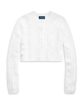 Ralph Lauren - Girls' Shrug Cable Knit Sweater - Little Kid, Big Kid
