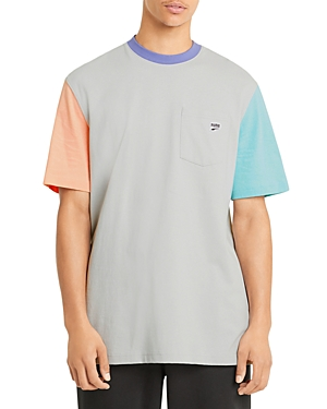 Puma Downtown Cotton Color Blocked Pocket Tee
