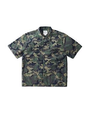 Shell Nylon Dwr Regular Fit Button Up Camp Shirt