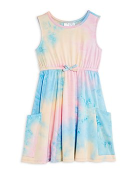 US Angels - Girls' Tie Dye Knit Dress - Little Kid