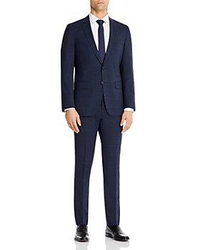 BOSS - Herrel/Grace Plaid Slim Fit Stretch Travel Suit