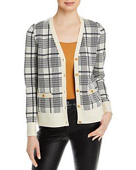 Tory Burch - Plaid Madeline Cardigan