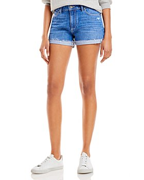 PAIGE - Jimmy Jimmy Denim Shorts in Magie Destructed