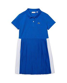 Lacoste - Girls' Short Sleeve Pleated Polo Dress - Little Kid, Big Kid