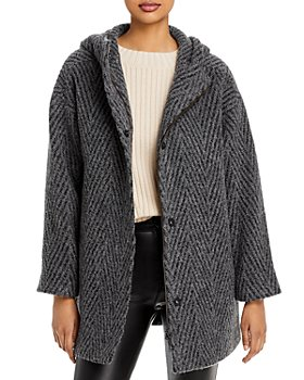 Eileen Fisher - Hooded Plaid Coat