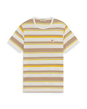 Maison Kitsuné - Chillax Fox Patch Striped Classic Tee