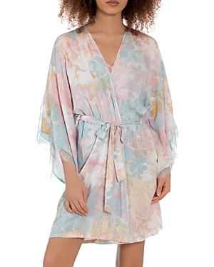 Romantic Floral Print Robe