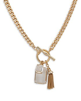 Ralph Lauren - Crystal & Tassel Toggle Pendent Necklace, 17""