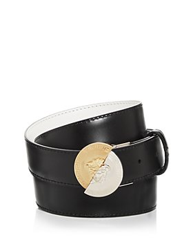 Versace - Men's Round Medusa Buckle Reversible Leather Belt