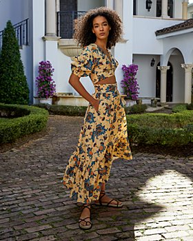 A.L.C. - Rylan Printed Puff Sleeve Top & Lucie Floral Maxi Skirt
