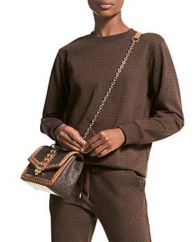 MICHAEL Michael Kors - Logo Print Organic Cotton Terry Sweatshirt