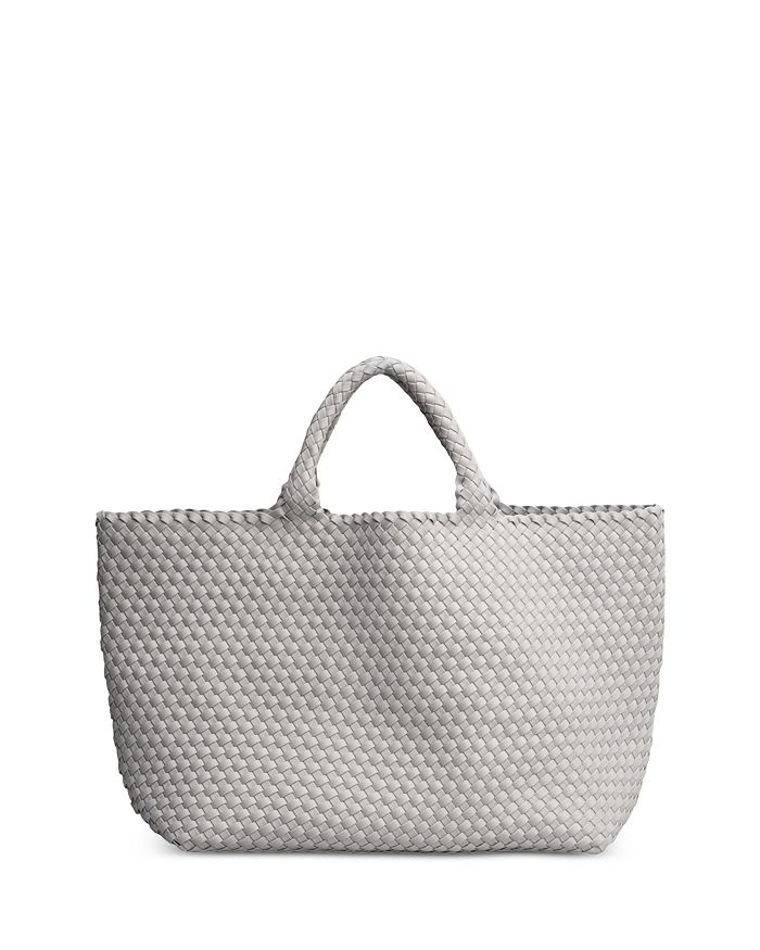 Naghedi St. Barths Large Woven Tote In Gray