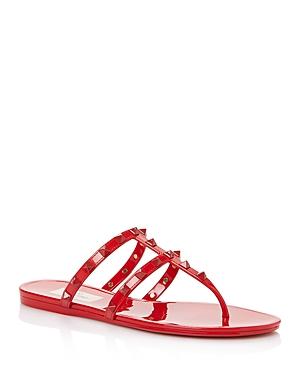 Valentino Garavani Women's Summer Rockstud Pvc Thong Sandals with Tonal Studs