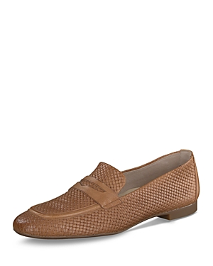 Paul Green WOMEN'S HUDSON ALMOND TOE QUILTED LEATHER LOAFERS