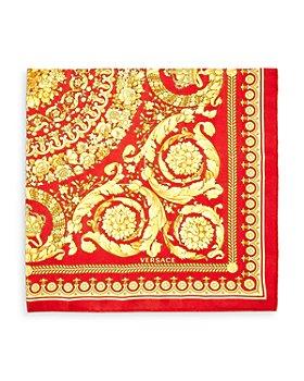 Versace - Baroque Floral Print Silk Scarf