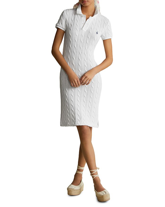 Cable Knit Polo Dress