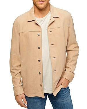 7 For All Mankind Regular Fit Suede Shirt Jacket