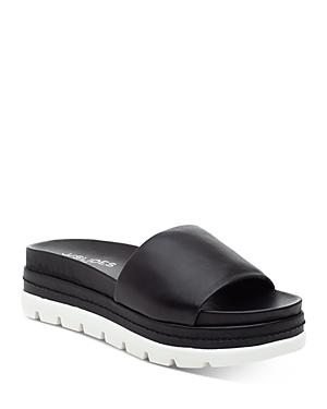 J/Slides Women's Brit Stretch Platform Slide Sandals
