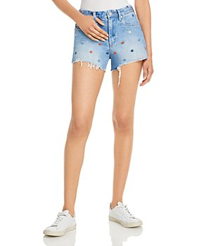 BLANKNYC - Star Embroidered Denim Shorts in Born In The USA