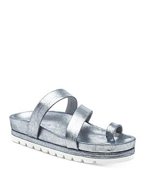 J/Slides Women's Roper Double Strap Platform Slide Sandals