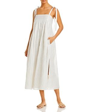 Rebecca Taylor Tie Strap Midi Dress