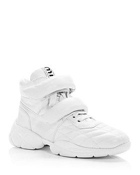 Miu Miu - Women's Nappa Leather High Top Sneakers