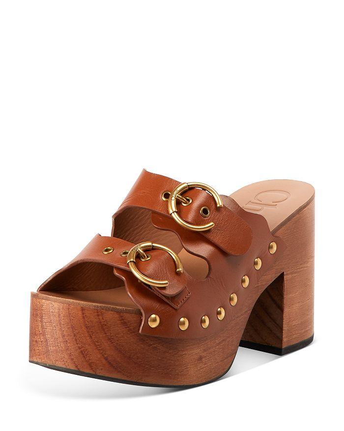 Chloé - Women's Lauren Ingrid Buckle Strap Leather Clogs