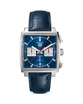 TAG Heuer - Monaco Heuer 02 Automatic Men's Blue Leather Chronograph, 39mm