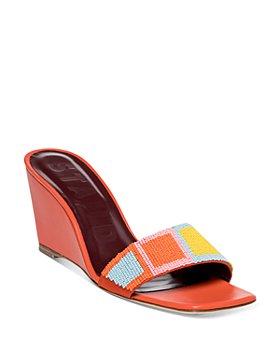 STAUD - Women's Billie Beaded Wedge Slide Sandals