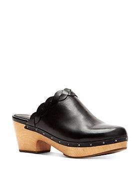 Frye - Women's Mille Braided Leather Platform Mules