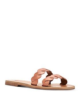 Frye - Women's Azalea Braided Double Strap Leather Slide Sandals