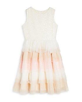 US Angels - Girls' Sequin Lace Ombré Ruffle Dress - Big Kid