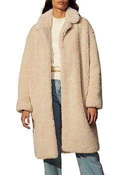 Sandro - Rocky Long Faux Fur Coat