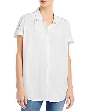 Rileah Solid Button Up Shirt