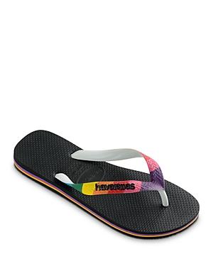 Women's Top Pride Rainbow Strap Rubber Flip Flops
