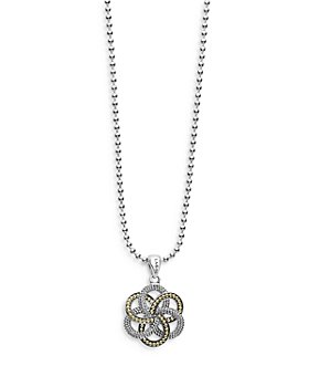 """LAGOS - Sterling Silver & 18K Yellow Gold Love Knot Pendant Necklace, 34"""""""