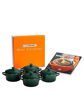 Le Creuset - Set of 4 Mini Cocottes with Mini-Cocotte Cookbook