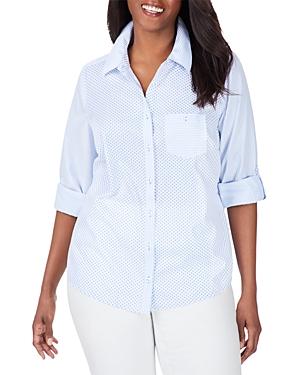 Mini Dot Striped Shirt
