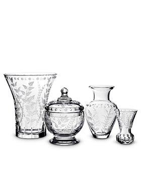 William Yeoward Crystal - Fern Crystal Vases & Covered Bonboniere