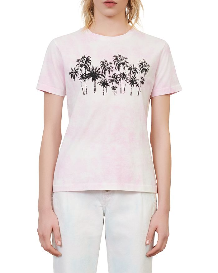 Maje TAXI COTTON GRAPHIC TEE