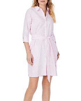 Foxcroft - Striped Belted Shirt Dress