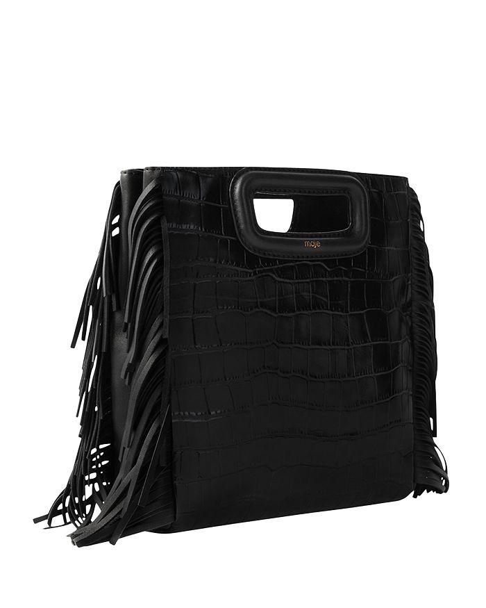MAJE Leathers M EMBOSSED LEATHER BAG