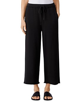 Eileen Fisher - Wide Leg French Terry Cropped Pants