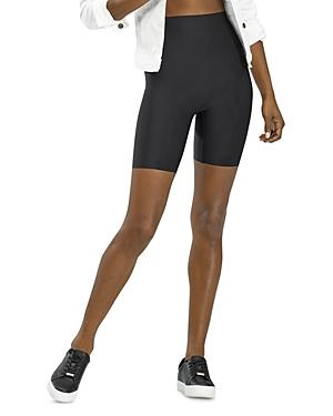 Faux Leather High Rise Bike Shorts